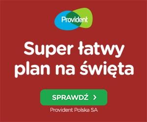 Provident - szybka pożyczka na raty na święta październik 2021